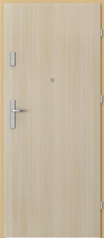 Drzwi wejściowe do mieszkania AGAT Plus intarsje 1