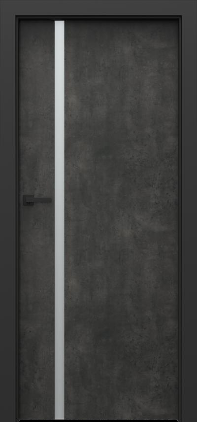 Drzwi wewnętrzne Porta LOFT 4.A Okleina CPL HQ 0,2 ***** Beton Ciemny