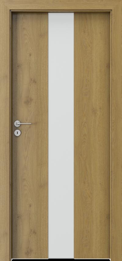 Drzwi wewnętrzne Porta FOCUS 2.0 szyba matowa Okleina Portaperfect 3D **** Dąb Naturalny