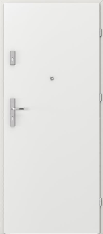 Drzwi wejściowe do mieszkania AGAT Plus pełne Okleina CPL HQ 0,7 ****** Biały