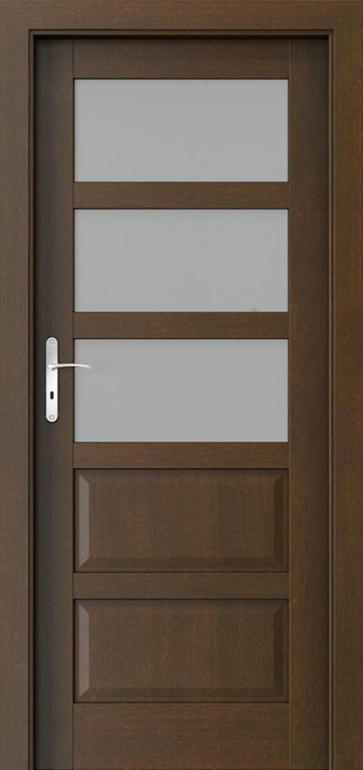 Drzwi wewnętrzne TOLEDO 3 Okleina Naturalna Dąb Satin **** Mocca