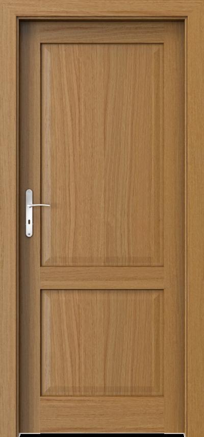 Drzwi wewnętrzne CORDOBA pełne Okleina Naturalna Dąb Satin **** Dąb Winchester