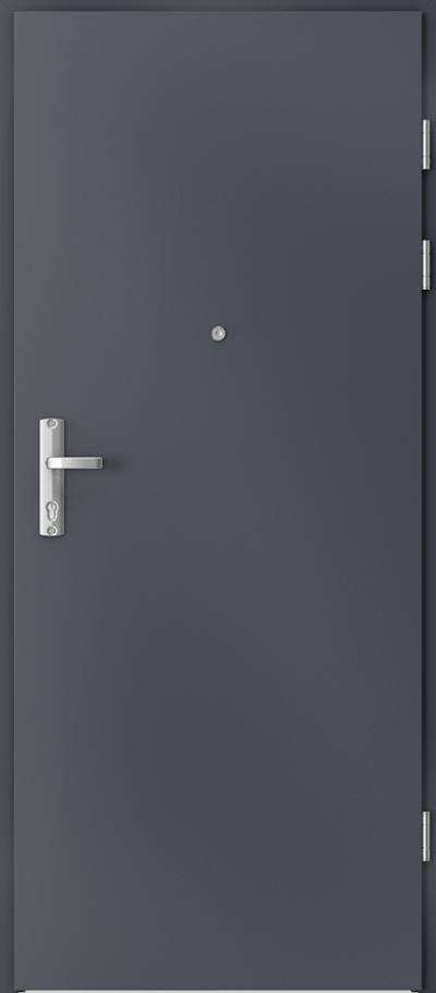 Drzwi wejściowe do mieszkania EXTREME RC3 płaskie Okleina CPL HQ 0,2 ***** Antracyt HPL CPL