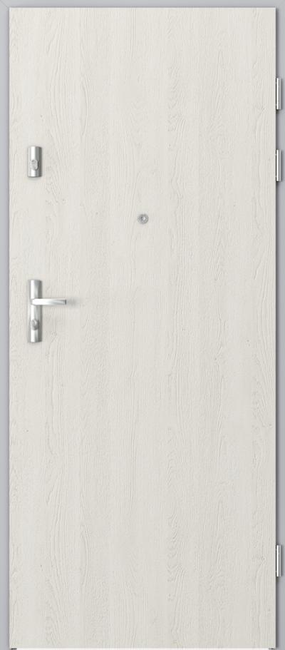 Drzwi wejściowe do mieszkania KWARC pełne  - pionowy układ okleiny