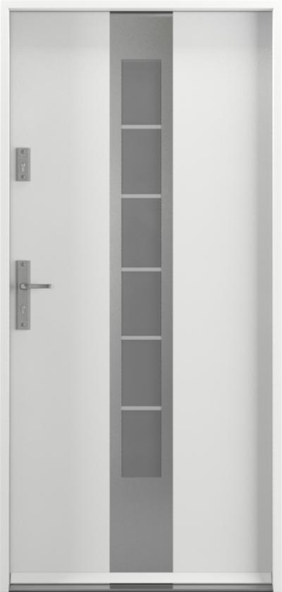 Drzwi wejściowe do domu Steel SAFE RC2 E1 Farba Poliestrowa ***** Biały Premium RAL 9003