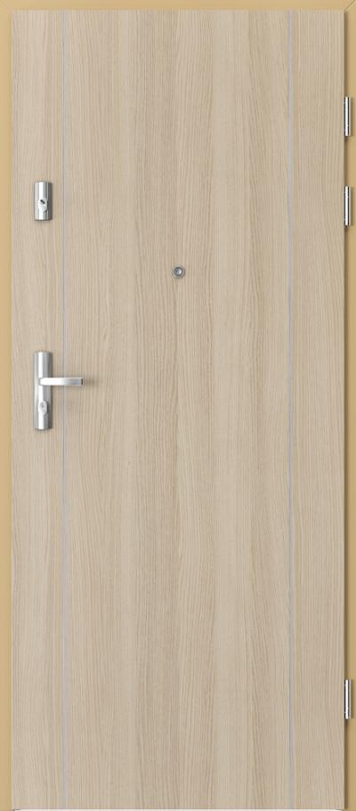 Drzwi wejściowe do mieszkania KWARC intarsje 1 Okleina CPL HQ 0,2 ***** Dąb Milano 1