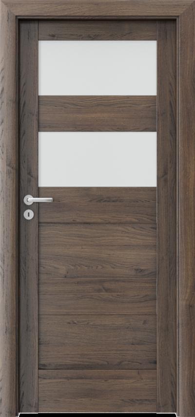 Drzwi wewnętrzne Porta VERTE HOME, L L.2 Okleina Portasynchro 3D *** Dąb Szkarłatny