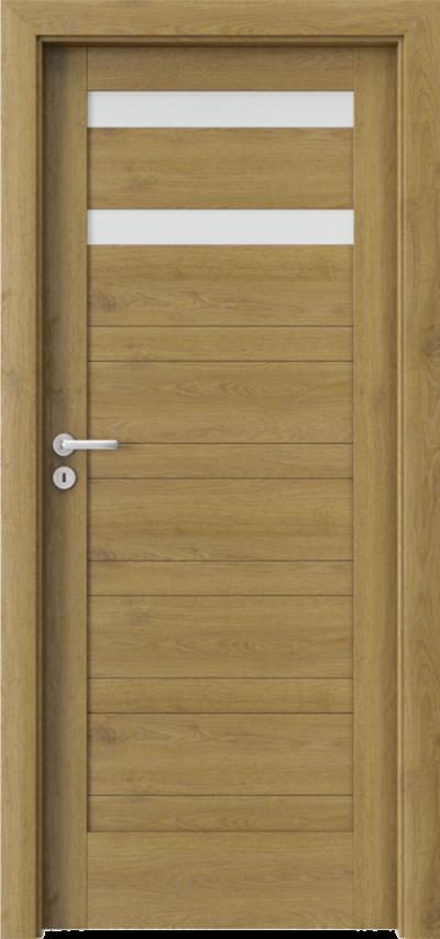 Drzwi wewnętrzne Porta VERTE HOME, D D.2 Okleina Portaperfect 3D **** Dąb Naturalny