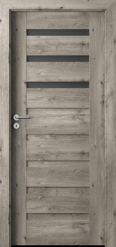 Drzwi wewnętrzne Porta VERTE PREMIUM, D D.3 Okleina Portaperfect 3D **** Dąb Syberyjski