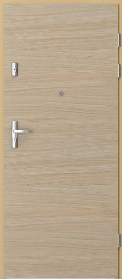 Drzwi wejściowe do mieszkania GRANIT pełne - poziom