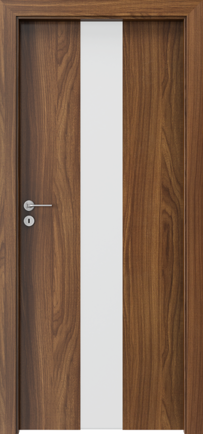 Drzwi wewnętrzne Porta FOCUS 2.0 szyba matowa Okleina CPL HQ 0,2 ***** Orzech Modena 1