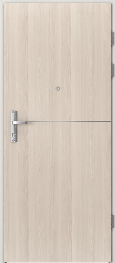 Drzwi wejściowe do mieszkania EXTREME RC3 intarsje 7 Okleina CPL HQ 0,2 ***** Orzech Bielony