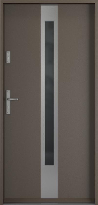 Drzwi wejściowe do domu Steel SAFE RC3 Thermo C1 Farba Poliestrowa ***** Metalic Titanium
