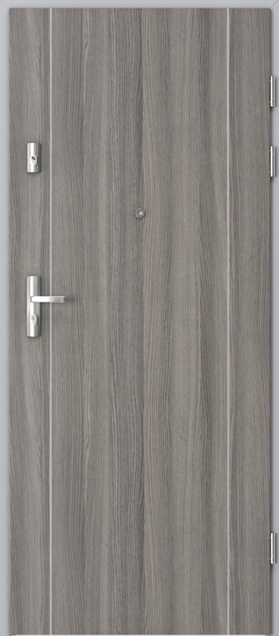 Drzwi wejściowe do mieszkania KWARC intarsje 1 Okleina CPL HQ 0,2 ***** Dąb Milano 4