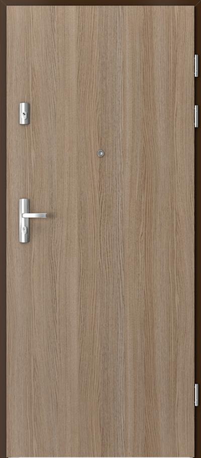 Drzwi wejściowe do mieszkania GRANIT pełne Okleina CPL HQ 0,7 ****** Dąb Milano 2