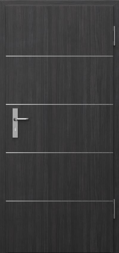 Drzwi techniczne INNOVO 37 dB Intarsje 6 Okleina CPL HQ 0,7 ****** Struktura ciemny
