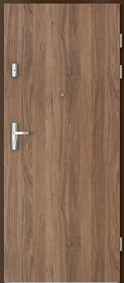 Drzwi wejściowe do mieszkania KWARC pełne Okleina Portaperfect 3D **** Dąb Kalifornia