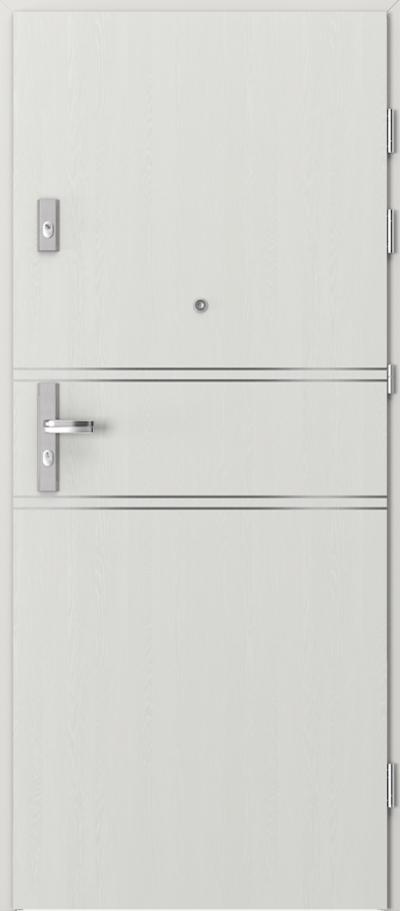 Drzwi wejściowe do mieszkania KWARC intarsje 4 Okleina Portasynchro 3D *** Wenge White