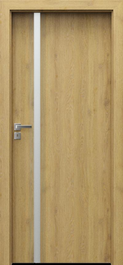 Drzwi wewnętrzne Porta FOCUS 4.A szyba matowa Okleina Portadecor *** Dąb Catania