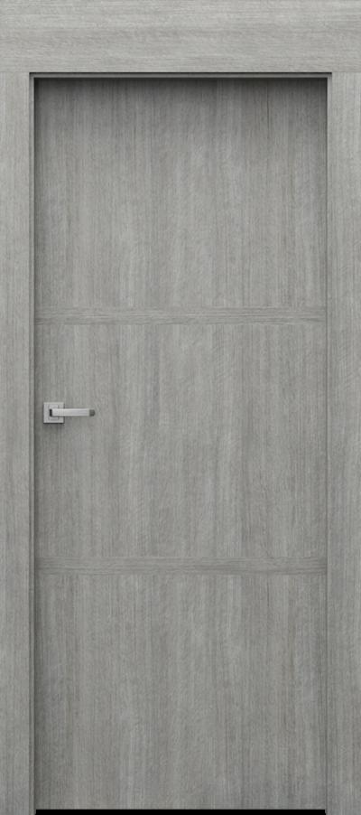 Drzwi wewnętrzne Porta LEVEL C.1 Portalamino**** Dąb Srebrzysty
