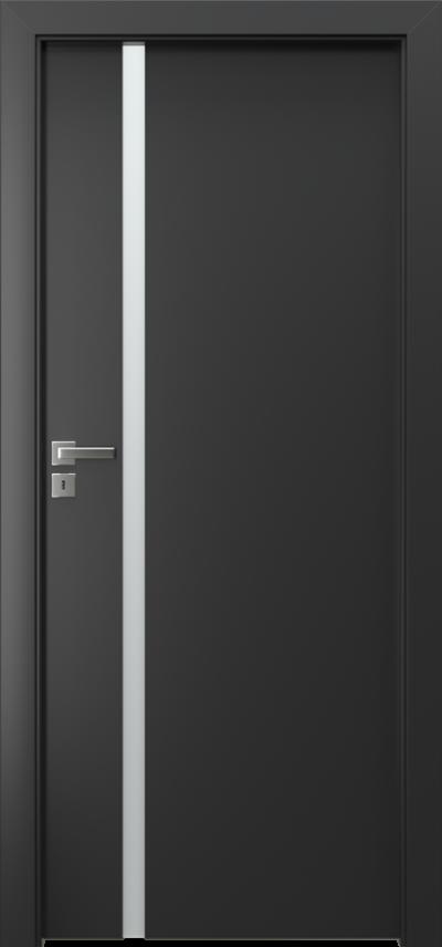 Drzwi wewnętrzne Porta FOCUS 4.A Okleina CPL HQ 0,2 ***** Czarny