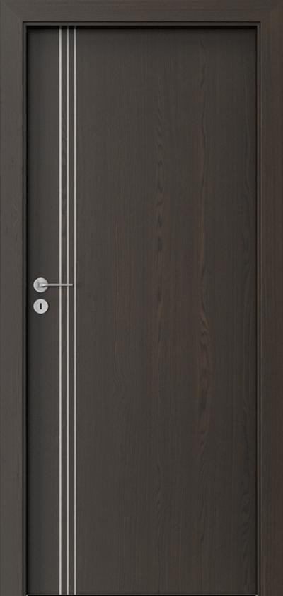 Drzwi wewnętrzne Natura LINE B.1 Okleina Naturalna Select **** Orzech Ciemny
