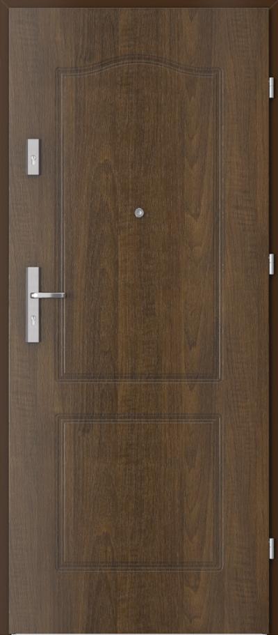 Drzwi wejściowe do mieszkania OPAL Plus frezowane model 9
