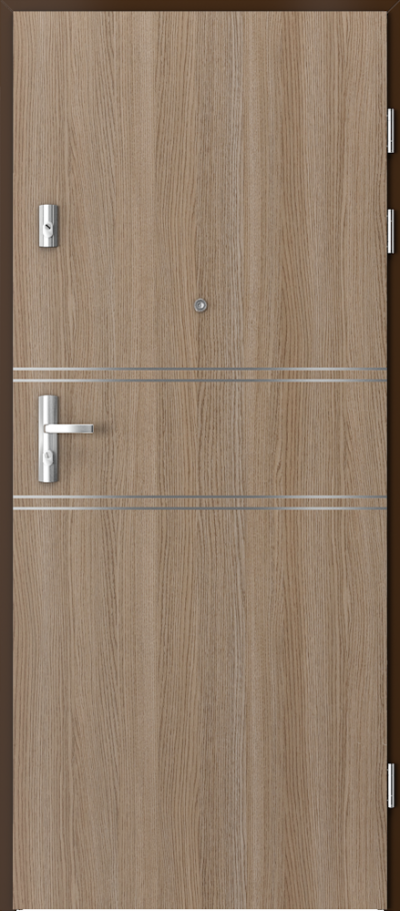 Drzwi wejściowe do mieszkania GRANIT intarsje 4
