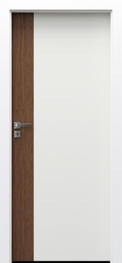 Drzwi wewnętrzne Porta DUO 4.0 Okleina Naturalna Dąb Satin **** Dąb Biały