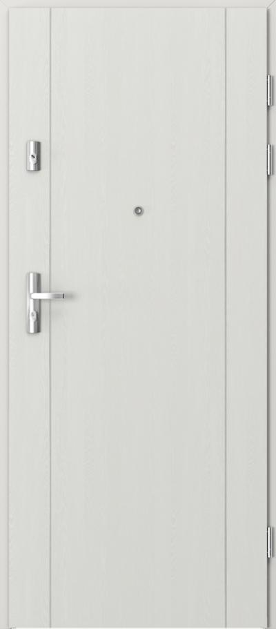 Drzwi wejściowe do mieszkania KWARC intarsje 1 Okleina Portasynchro 3D *** Wenge White