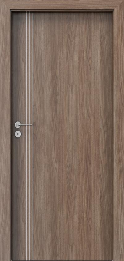 Drzwi wewnętrzne Porta LINE B.1 Okleina Portadecor *** Orzech Verona 2