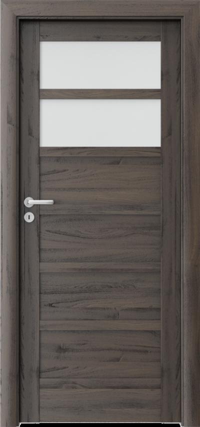 Drzwi wewnętrzne Porta VERTE HOME, A A.2 Okleina Portasynchro 3D *** Dąb Ciemny