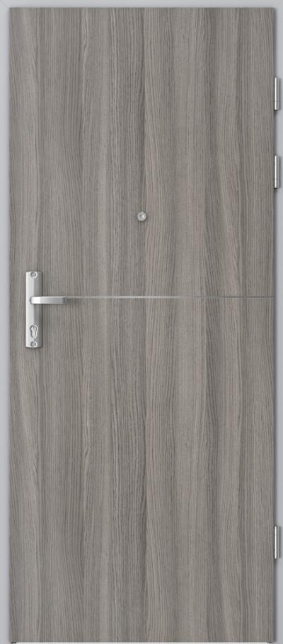 Drzwi wejściowe do mieszkania EXTREME RC3 intarsje 7 Okleina CPL HQ 0,2 ***** Dąb Milano 4