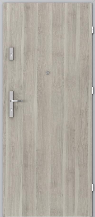 Drzwi wejściowe do mieszkania OPAL Plus pełne Okleina Portasynchro 3D *** Akacja Srebrna