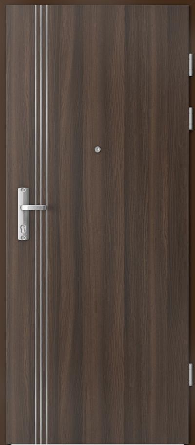 Drzwi wejściowe do mieszkania EXTREME RC3 intarsje 3 Okleina CPL HQ 0,2 ***** Dąb Milano 5