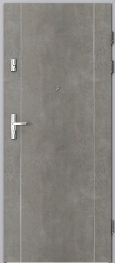 Drzwi wejściowe do mieszkania KWARC intarsje 1 Okleina CPL HQ 0,7 ****** Beton jasny