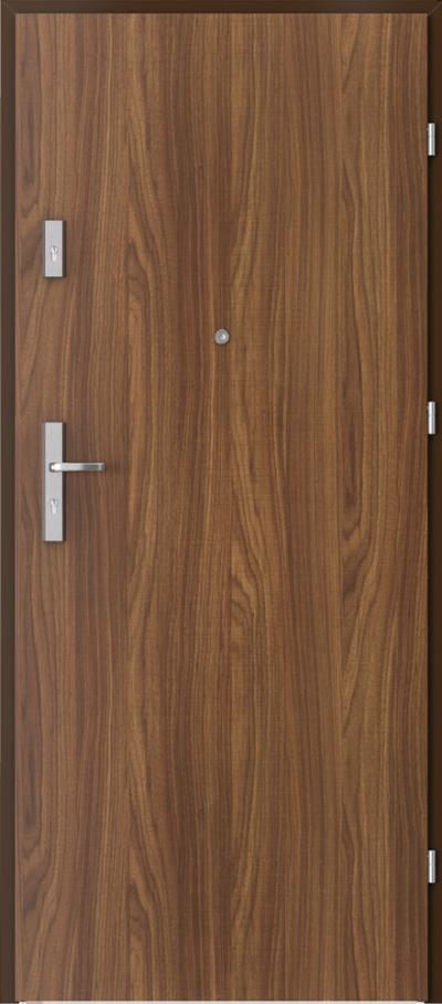 Drzwi wejściowe do mieszkania AGAT Plus pełne Okleina CPL HQ 0,2 ***** Orzech Modena 1