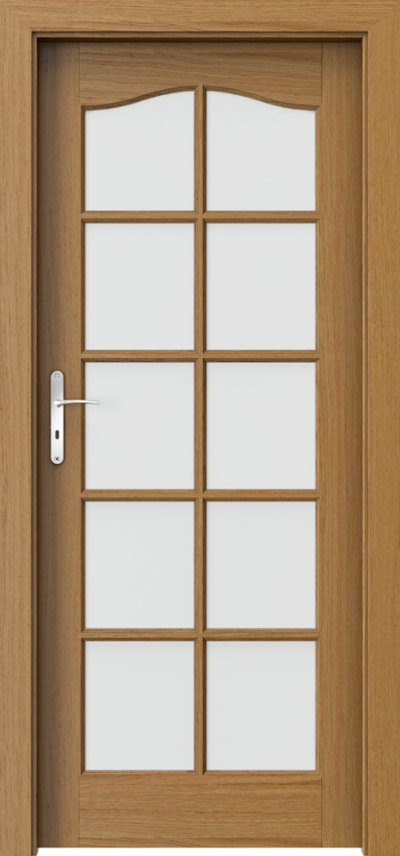Drzwi wewnętrzne MADRYT Duży Szpros Okleina Naturalna Dąb Satin **** Dąb Winchester