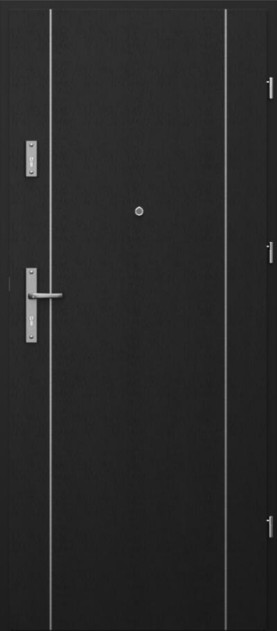 Drzwi wejściowe do mieszkania OPAL RC2 intarsje 1