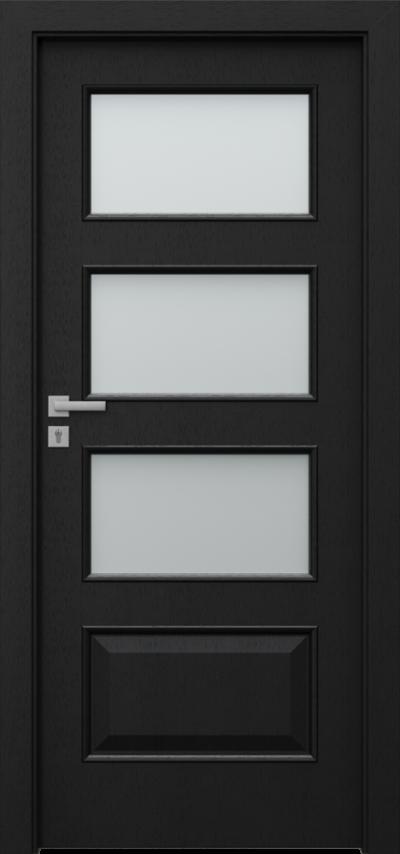Drzwi wewnętrzne Natura CLASSIC 5.4 Okleina Naturalna Select **** Czarny