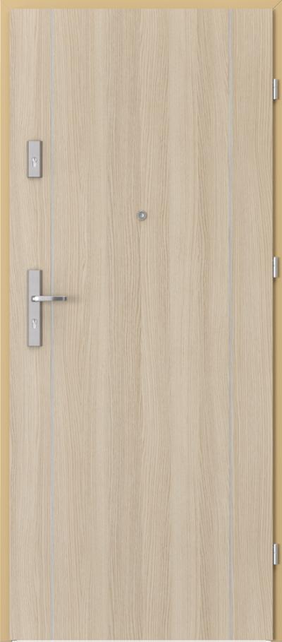 Drzwi wejściowe do mieszkania AGAT Plus intarsje 1 Okleina CPL HQ 0,2 ***** Dąb Milano 1