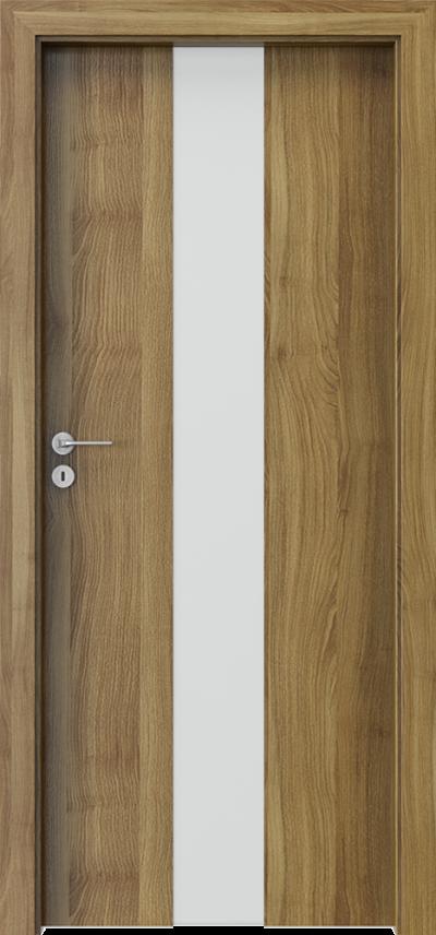 Drzwi wewnętrzne Porta FOCUS 2.0 szyba matowa Okleina Portasynchro 3D *** Akacja Miodowa