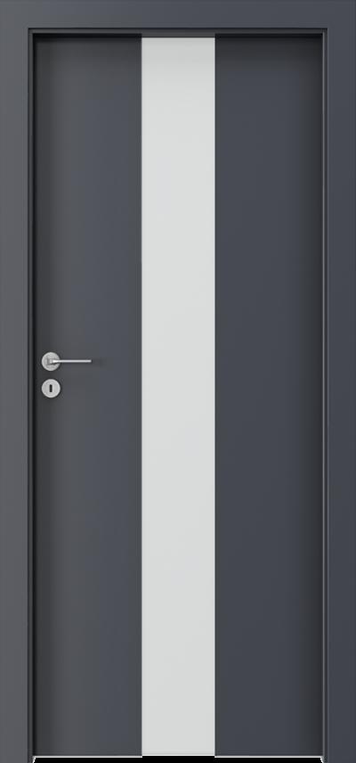 Drzwi wewnętrzne Porta FOCUS 2.0 szyba matowa Okleina CPL HQ 0,2 ***** Antracyt HPL CPL