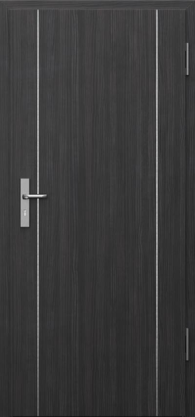 Technical doors INNOVO 42 dB Intarsje 9 CPL HQ 0,7 laminate ****** Structure Dark