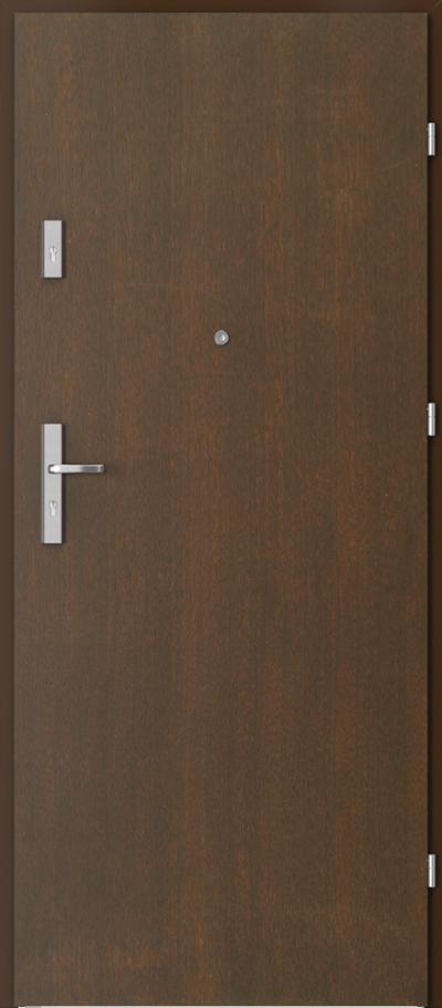 Drzwi wejściowe do mieszkania OPAL Plus pełne Okleina Naturalna Dąb Satin **** Mocca