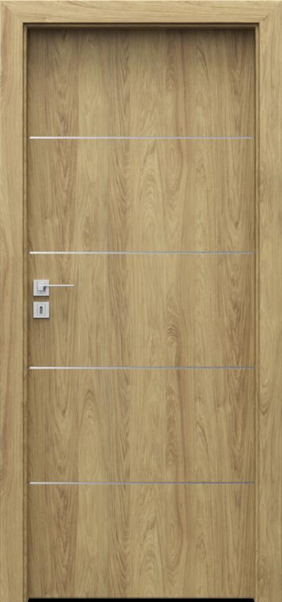 Drzwi wewnętrzne Porta LINE E.1 Okleina CPL HQ 0,2 ***** Hikora Naturalna