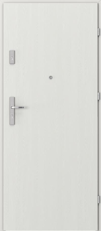 Drzwi wejściowe do mieszkania OPAL Plus pełne Okleina Portasynchro 3D *** Wenge White
