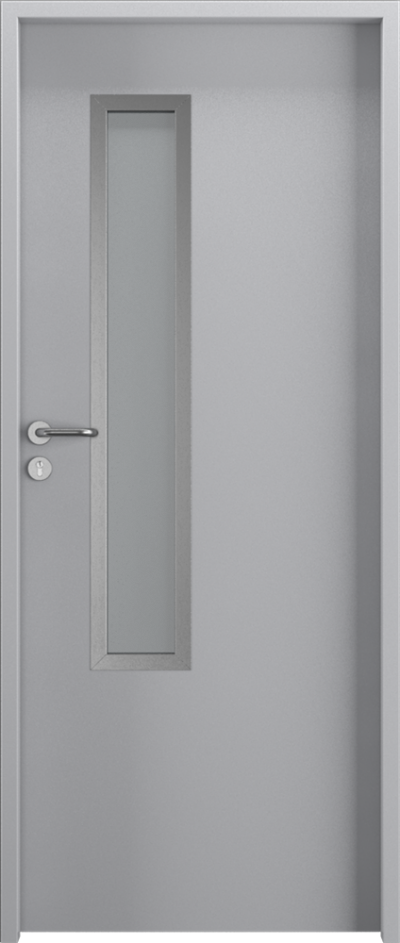 Drzwi techniczne Metal SOLID 3 Farba Poliestrowa Premium ***** Popielaty MAT