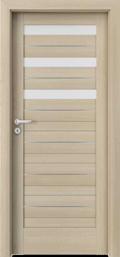 Drzwi wewnętrzne Porta VERTE HOME, D D.3 intarsje Okleina Portaperfect 3D **** Dąb Malibu