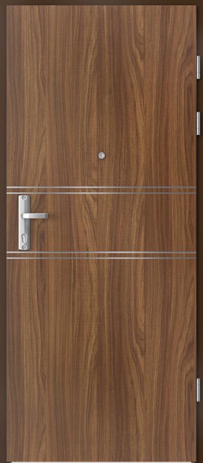 Drzwi wejściowe do mieszkania EXTREME RC3 intarsje 4 Okleina CPL HQ 0,2 ***** Orzech Modena 1